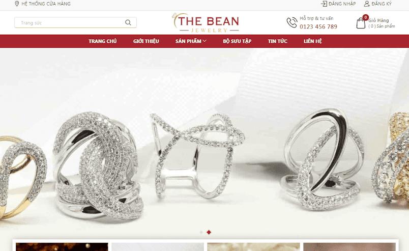 Template blogspot bán hàng trang sức