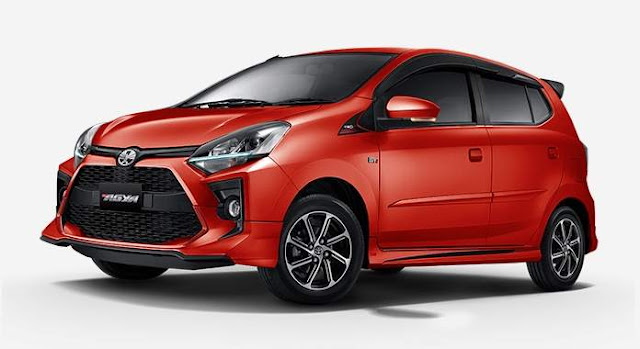 Pilihan Warna Merah Toyota Agya Facelift 2020