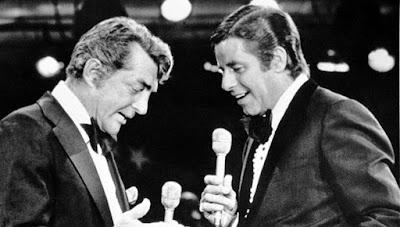 Jerry Lewis y Dean Martin en 1989