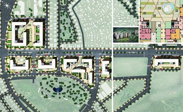 Mặt bằng phân khu dự án Booyoung Vina Mỗ Lao