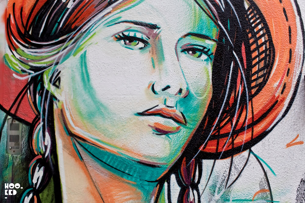 Alice Pasquini's Everything Flows Mural in Camden, London