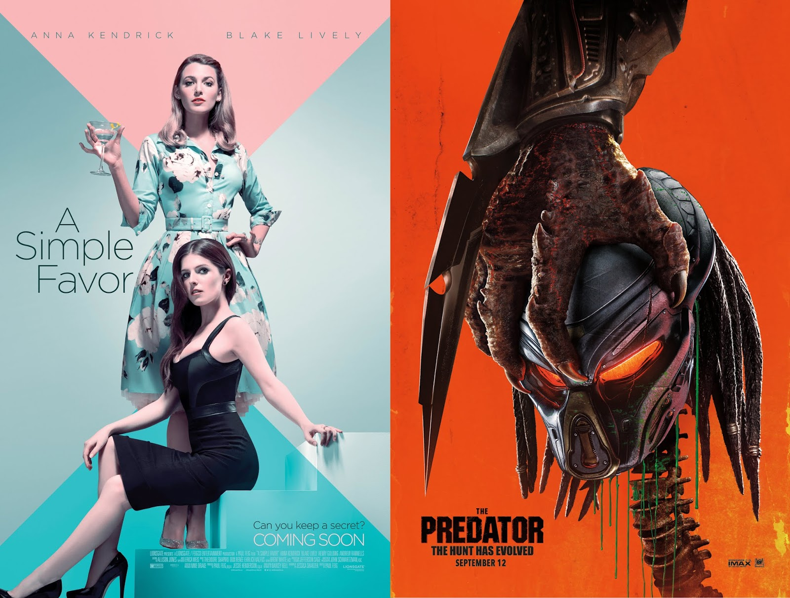 Feel The Thrill Of The Predator And A Simple Favor In Sm Cinema