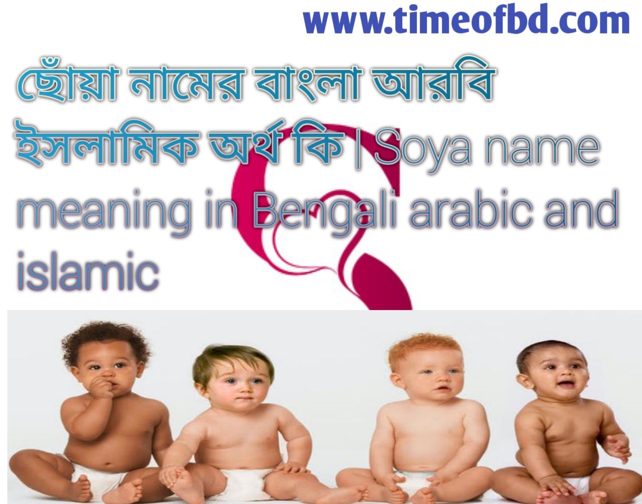 ছোঁয়া নামের অর্থ কি, ছোঁয়া নামের বাংলা অর্থ কি, ছোঁয়া নামের ইসলামিক অর্থ কি, Soya name meaning in Bengali, ছোঁয়া কি ইসলামিক নাম,