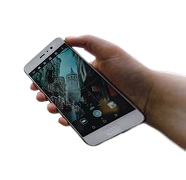 hand holding phone png
