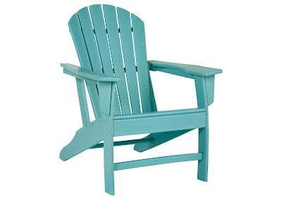 teal Adirondack chair