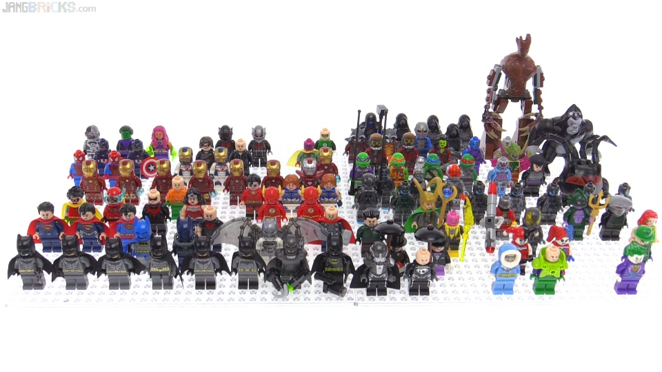 "My LEGO comic & super heroes figure ""collection"""