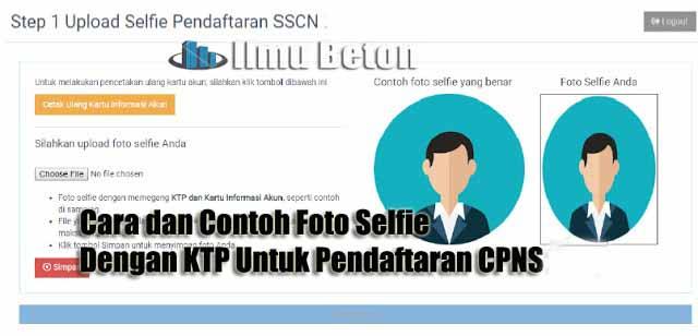 Cara dan Contoh Foto Selfie Dengan KTP Untuk Pendaftaran CPNS