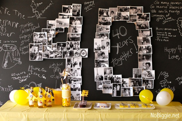 żółty Balonik 40 Urodziny Dekoracje