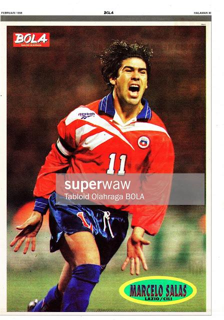 MARCELO SALAS CHILE 1998 LAZIO