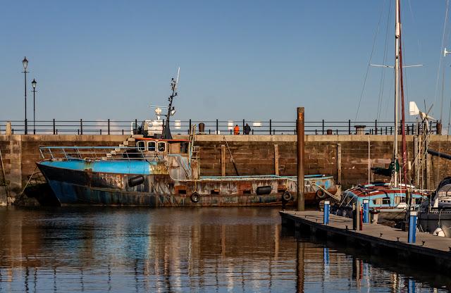 Photo of Ravensdale heading out of Maryport Marina