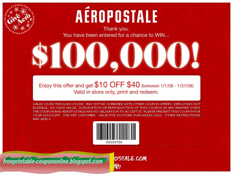 Aéropostale Coupons
