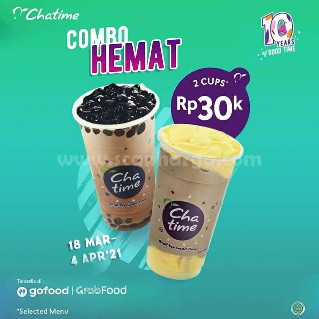 Promo CHATIME COMBO HEMAT – BELI 2 CUP cuma Rp 30.000
