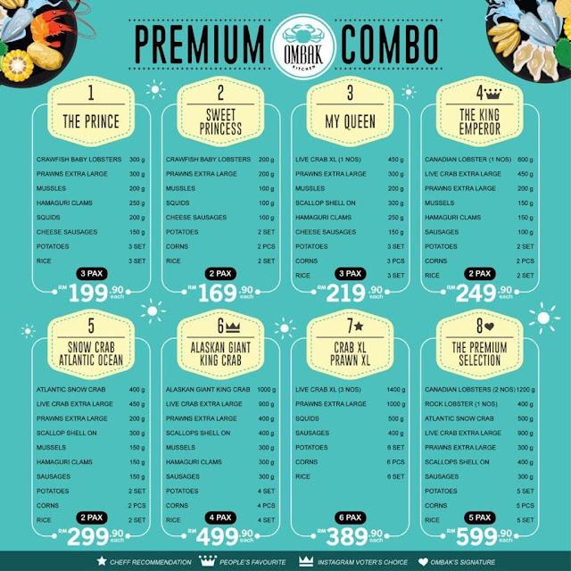 ombak kitchen menu harga seafood
