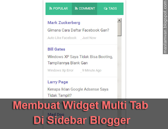 Cara Membuat Multi Tab Widget Di Sidebar Blog