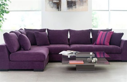 Purple sofas and sectionals for small spaces
