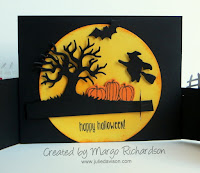 VIDEO Tutorial: How to Make a Bendy Card with Cookie Cutter Haloween and Spooky Fun stamp sets; card by Margo Richardson