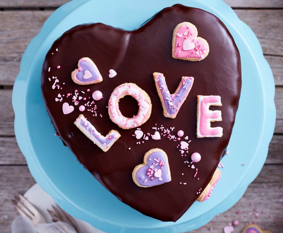تورتة قلب الشوكولاتة