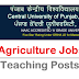 Agricultural Teaching Recruitment | Central University of Punjab
