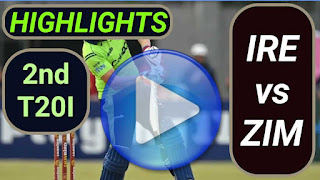 IRE vs ZIM 2nd T20I 2021