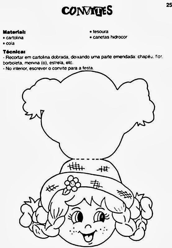 Convites para Festa junina - Chapéu de Menino e Menina - Formando Alunos da312bacdac