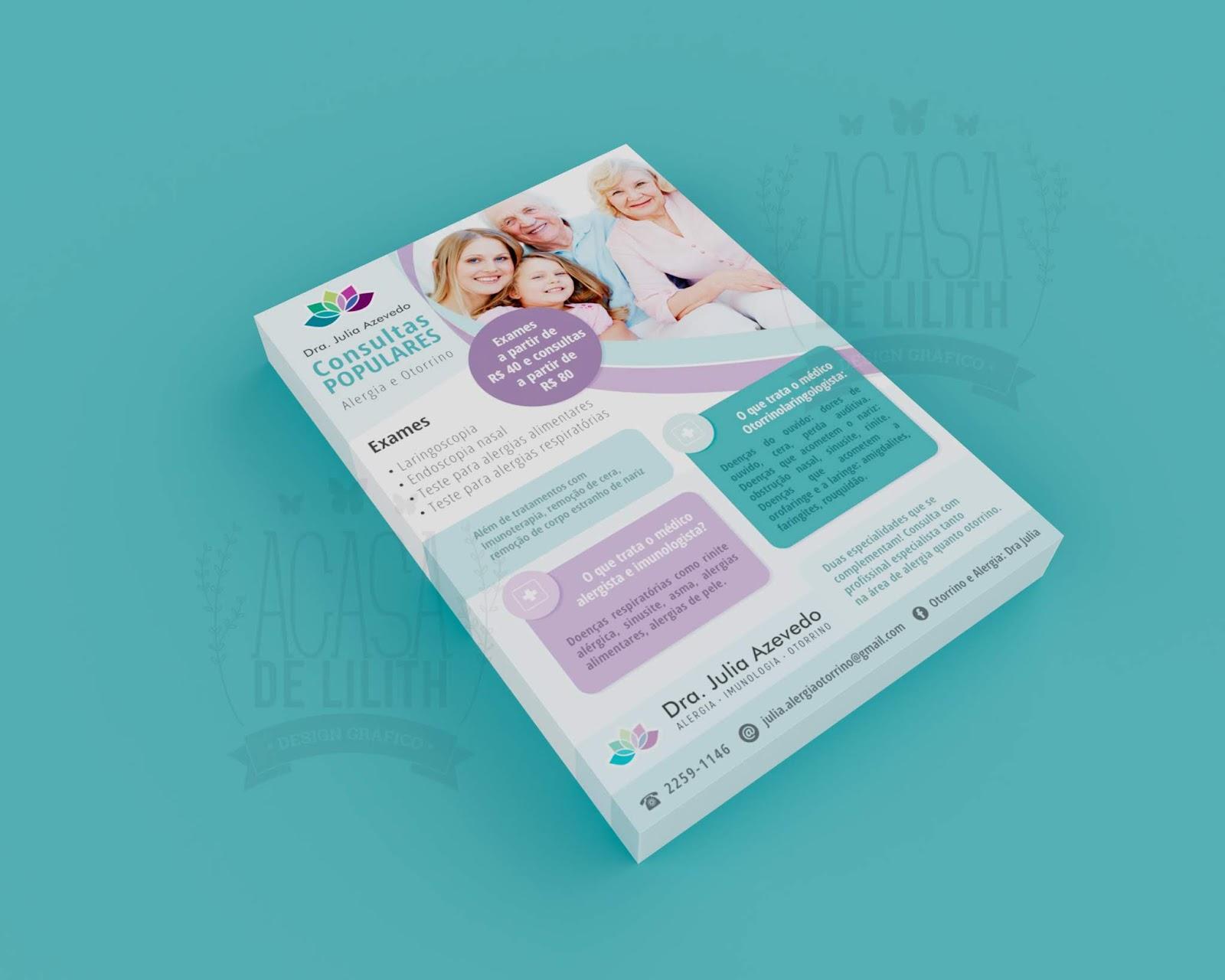 Panfleto / Flyer para Otorrinolarinologista