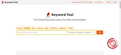 2. Setelah berada di halaman, silakan input keyword atau kata kunci sederhana pada kolom type a keyword and press enter. Jika negara dan bahasanya sudah Indonesia langsung klik pencarian saja