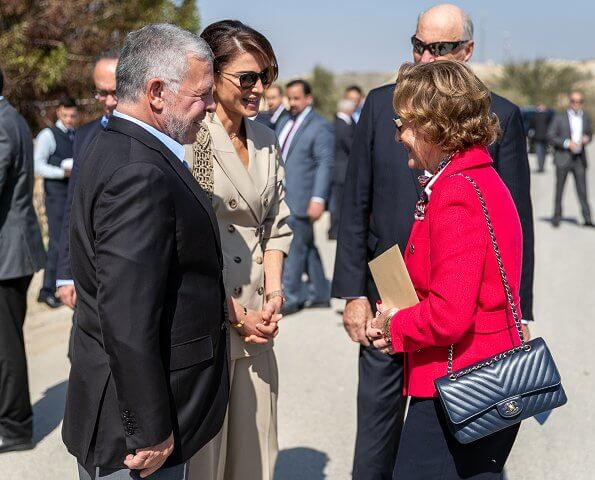 The King and Queen of Norway, King Abdullah and Queen Rania, visited the Baptism Site on the Jordan River Bethany