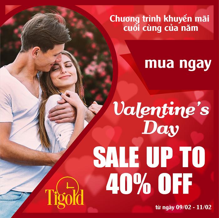chương trình khuyến mãi valentine của Tigold