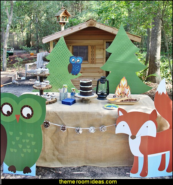 Happy Campers Birthday Party decorations boys theme party decorations boys party ideas