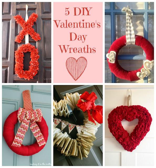 5 Valentine\'s Day Wreaths