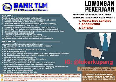 Lowongan Kerja Bank TLM Sebagai Marketing Lending, Accounting, SatpamLowongan Kerja Bank TLM Sebagai Marketing Lending, Accounting, Satpam