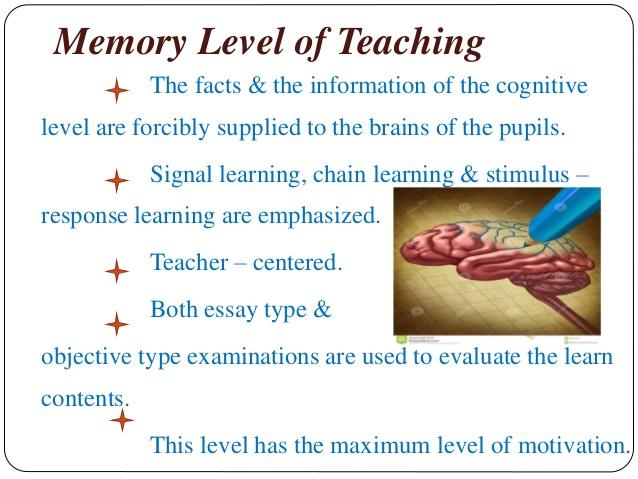 Levels Of Teaching