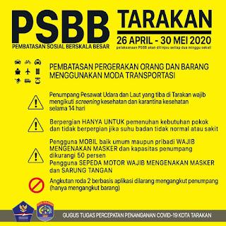 Pembatasan Sosial Berskala Besar (PSBB) di Kota Tarakan - Tarakan Info