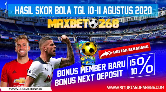 Hasil Pertandingan Sepakbola Tanggal 10 - 11 Agustus 2020