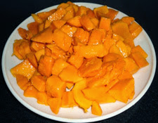 mango pieces to make mango lassi