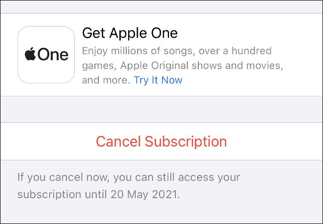 إلغاء الاشتراك في iPhone