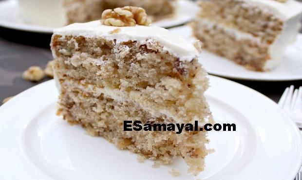 வால்நட்ஸ் வாழைப்பழ கேக் ரெசிபி செய்வது | Walnuts Banana Cake Recipe !