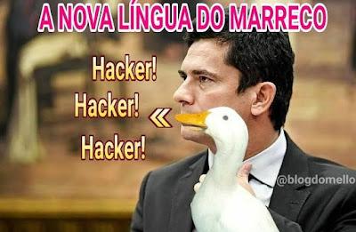 Marreco Moro faz hacker, hacker, hacker