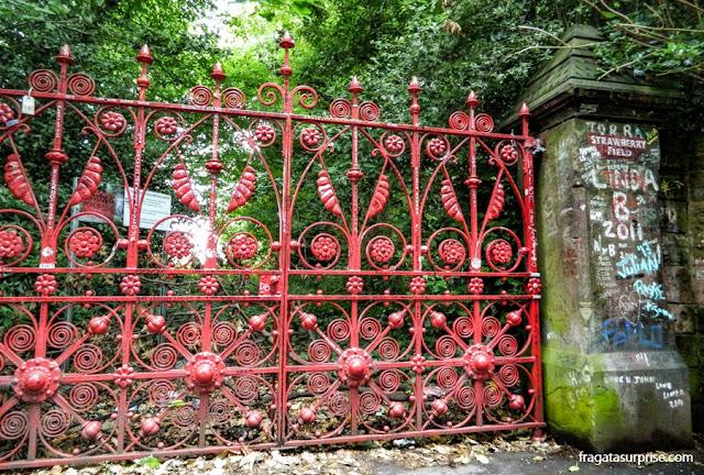 Liverpool: portões de Strawberry Field