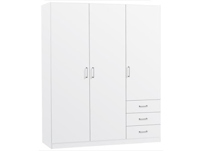 Un armadio completamente bianco