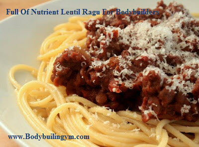 Lentil Ragu For Bodybuilders