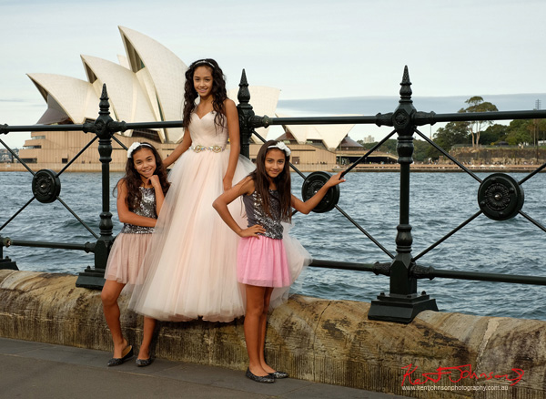 Special XV Sisters, special XV birthday portrait in Sydney with the Opera house as a backdrop. Photographed by Kent Johnson.