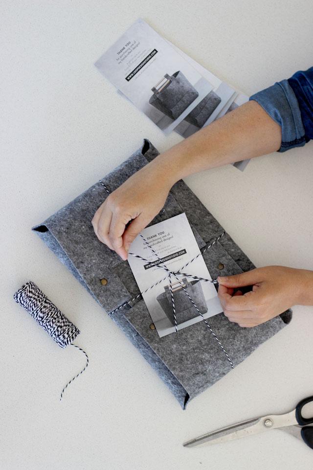 Felt Storage Bins | Loop Design Studio