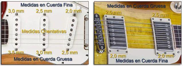 Medidas de la Altura de las Pastillas en Guitarra Eléctrica