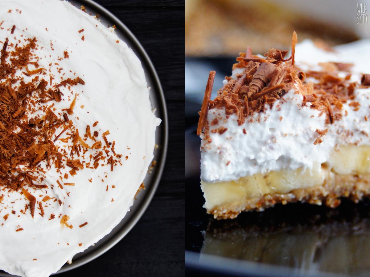 zdrowe ciasto, bez pieczenia, banoffee, wegańskie, tarta, ciasto,