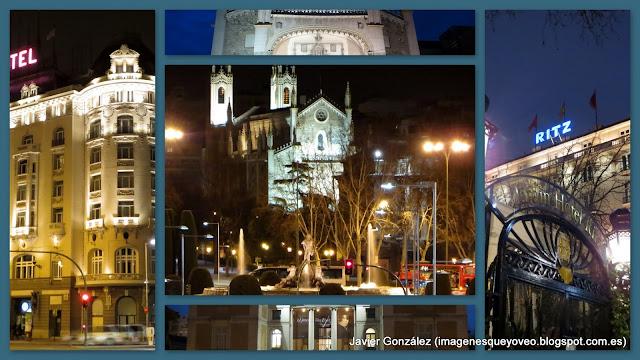 Alrededores del Paseo del Prado. Fotos nocturnas