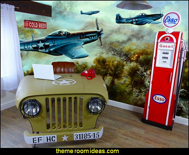 Willy Jeep Desk ARMY THEME BEDROOM DECCORATING IDEAS
