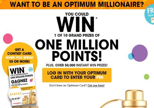 Shoppers Drug Mart Optimum Millionaire Contest