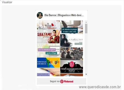 Adicionando o Pinterest no blog