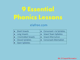 9 Essential Phonics Lessons